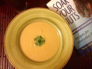 Creamy Sweet Potato-Cashew Soup