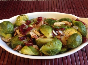 Almond Cranberry  Brussels Sprouts