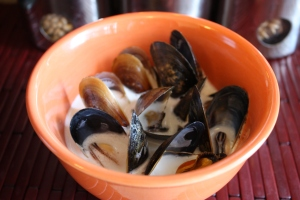 Mussels in Coconut Lime Sauce