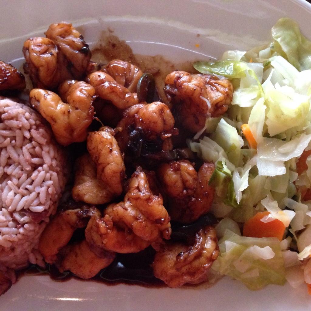 Jerk Shrimp Dinner