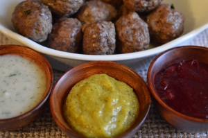 Dipping Sauce with Lamb Meatballs