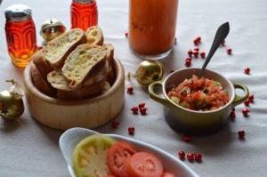 Bruschetta & Garlic Crustinis