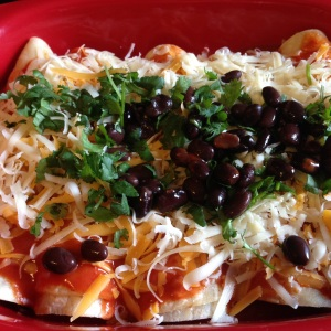 Dressed Uncooked Enchiladas