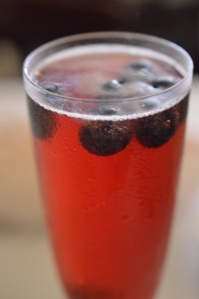 Pomegranate Mimosa @ The Palace Cafe