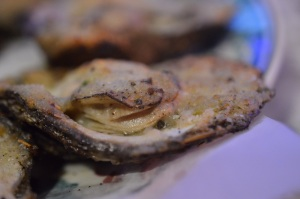 Charbroiled Oysters with Garlic & Parmesan @ Mr. Ed's Oyster Bar & Fish House