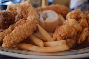 Shrimp & Southern Fried Fish Platter @ The Original Pierre Maspero's